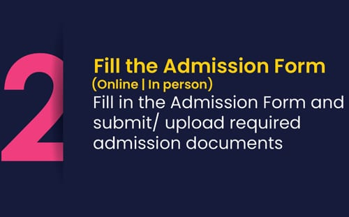 Fill roots admission form