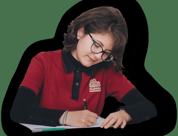 Girl filling TME addmission form