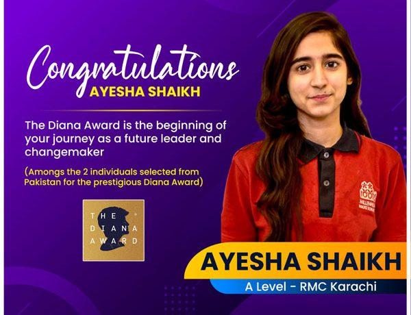 Rising Star, The Diana Award Recipient: Ayesha Shaikh